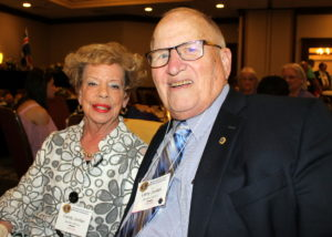 Lion Larry Jordan and his wife Candy celebrate 50 years of Lion membership at the 2017 NC Lions State Convention