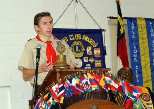 Scout Ryan Cunningham talks about his Eagle project