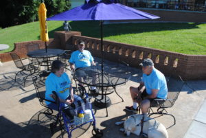 New Patio Furniture at Camp Dogwood donated by Apex Lions Club